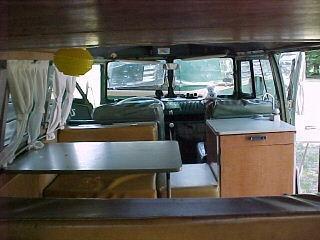 SO42 interior camping setup