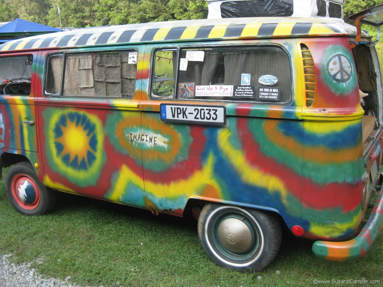 FMBC Rainbow Bus hand painted
