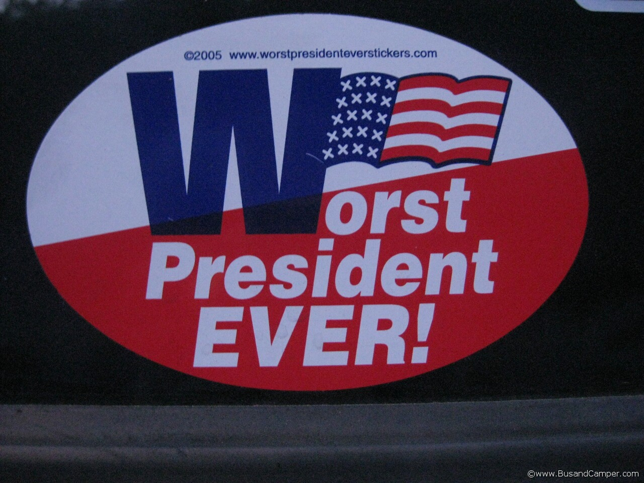 Worst President Ever sticker 11