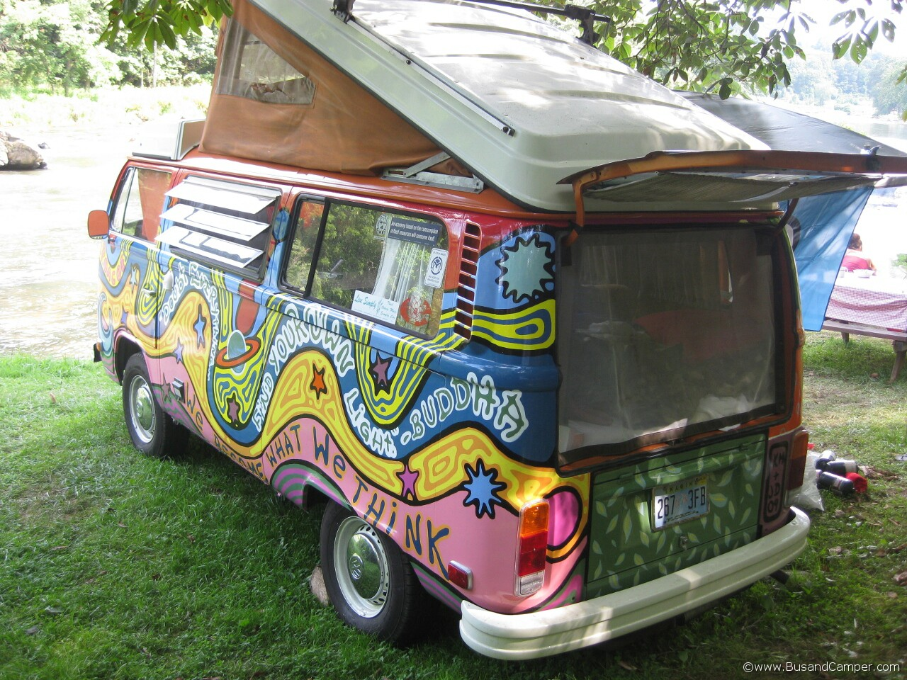 Buddha Bus Hippy paint Volkswagen 24
