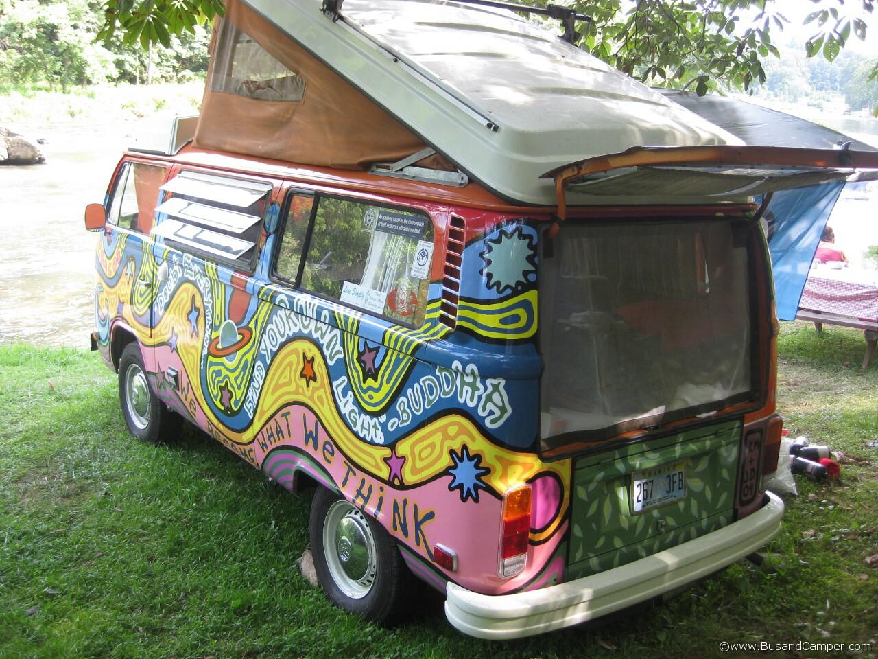 Buddha Bus Hippy paint Volkswagen 24