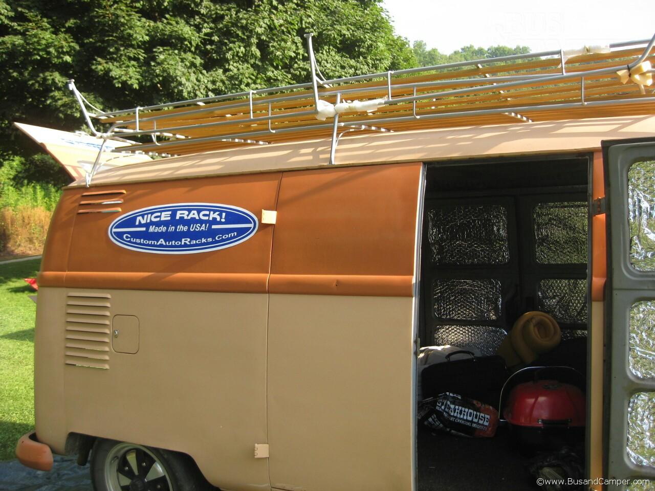 High hinge VW Split roof rack 40