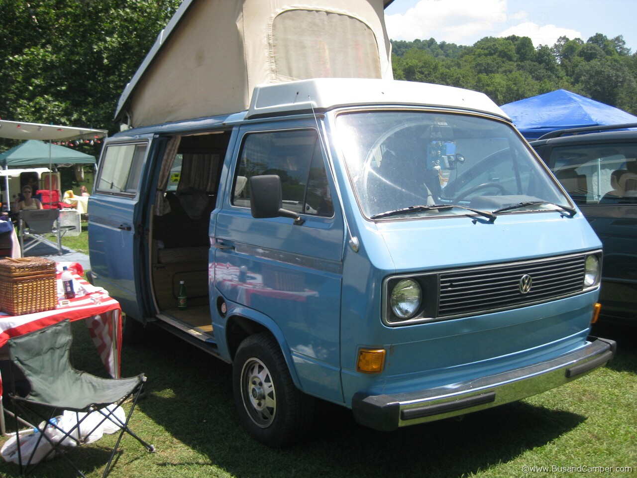 Early T25 air cooled in blue
