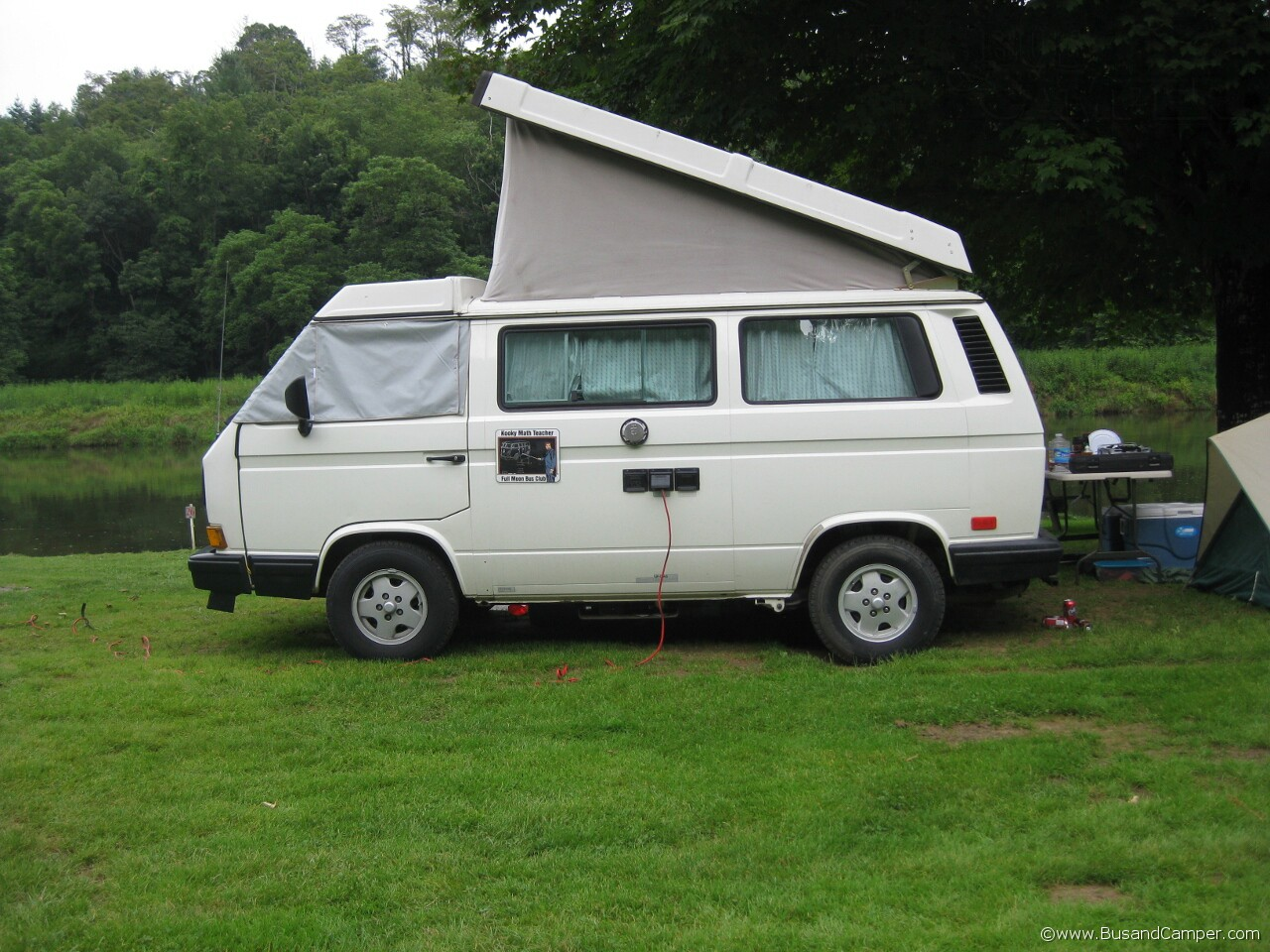 Clean white Westfalia Campervan