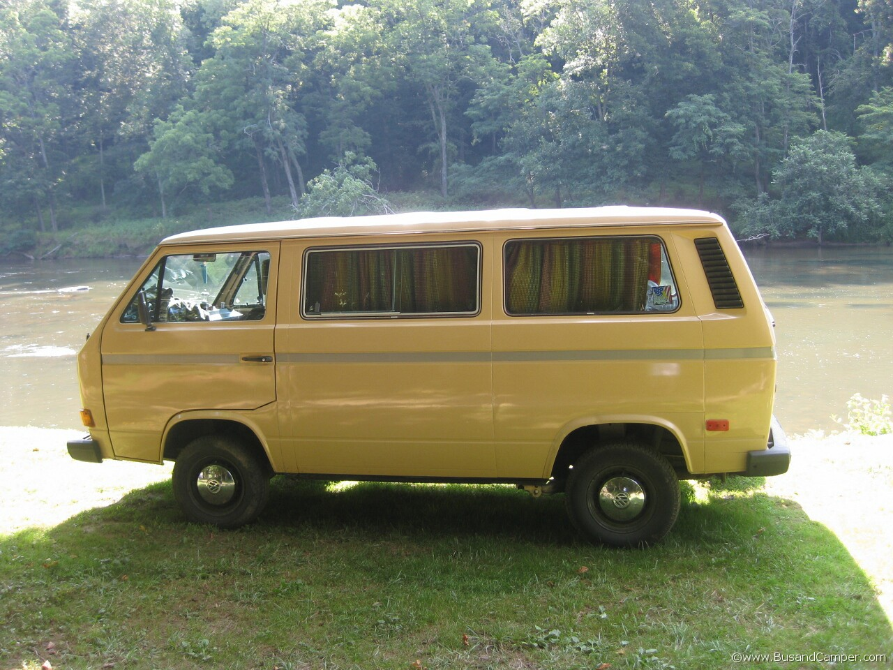 Clean early campervan in yellow