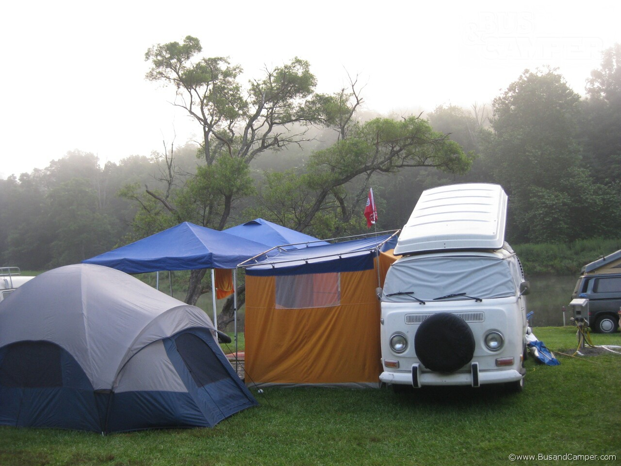 Early morning High Country Bus Festival