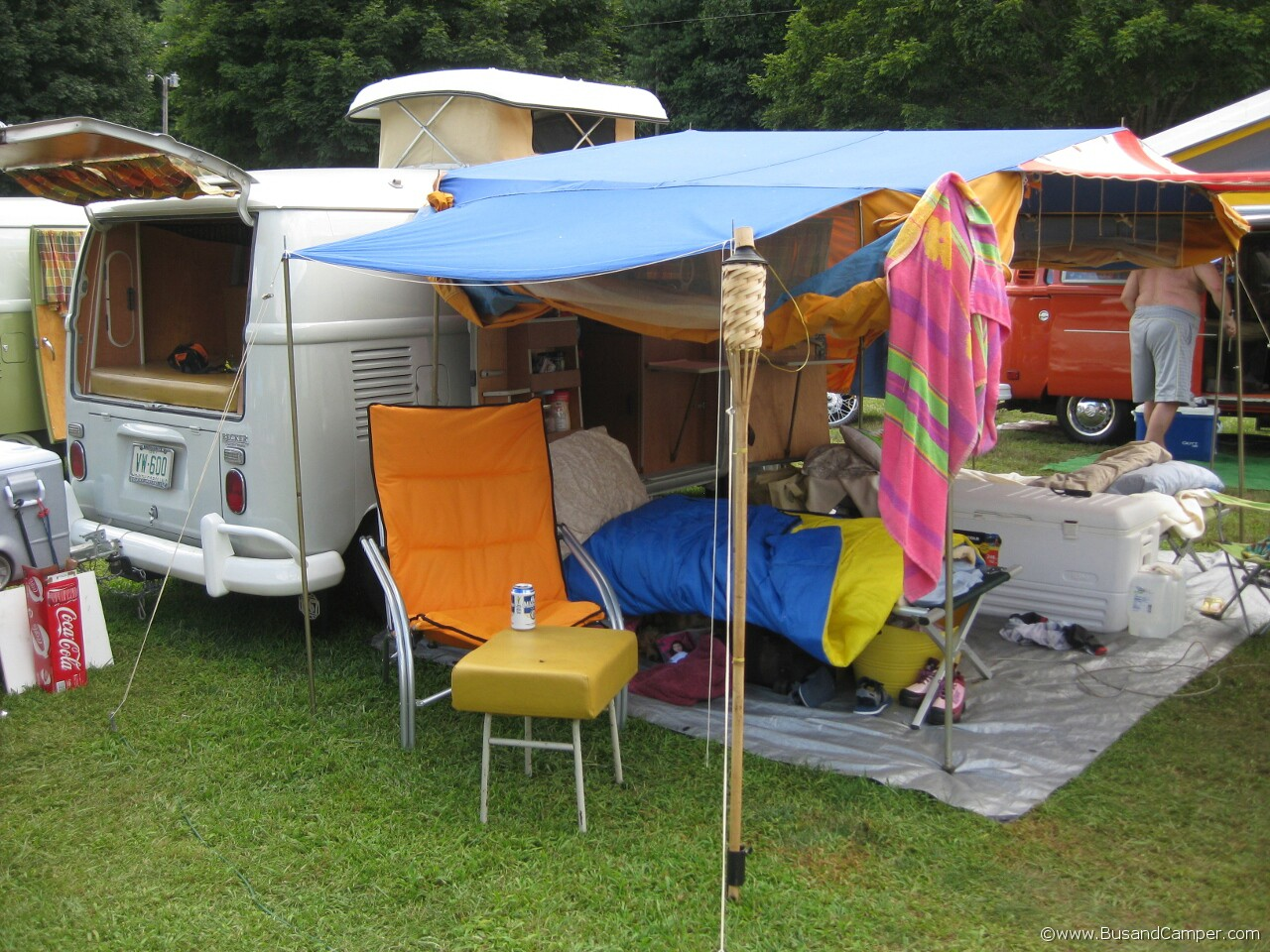 Big top Tent on 1967 so42 Westfalia Campervan