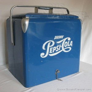 Pepsi Cooler vintage progress