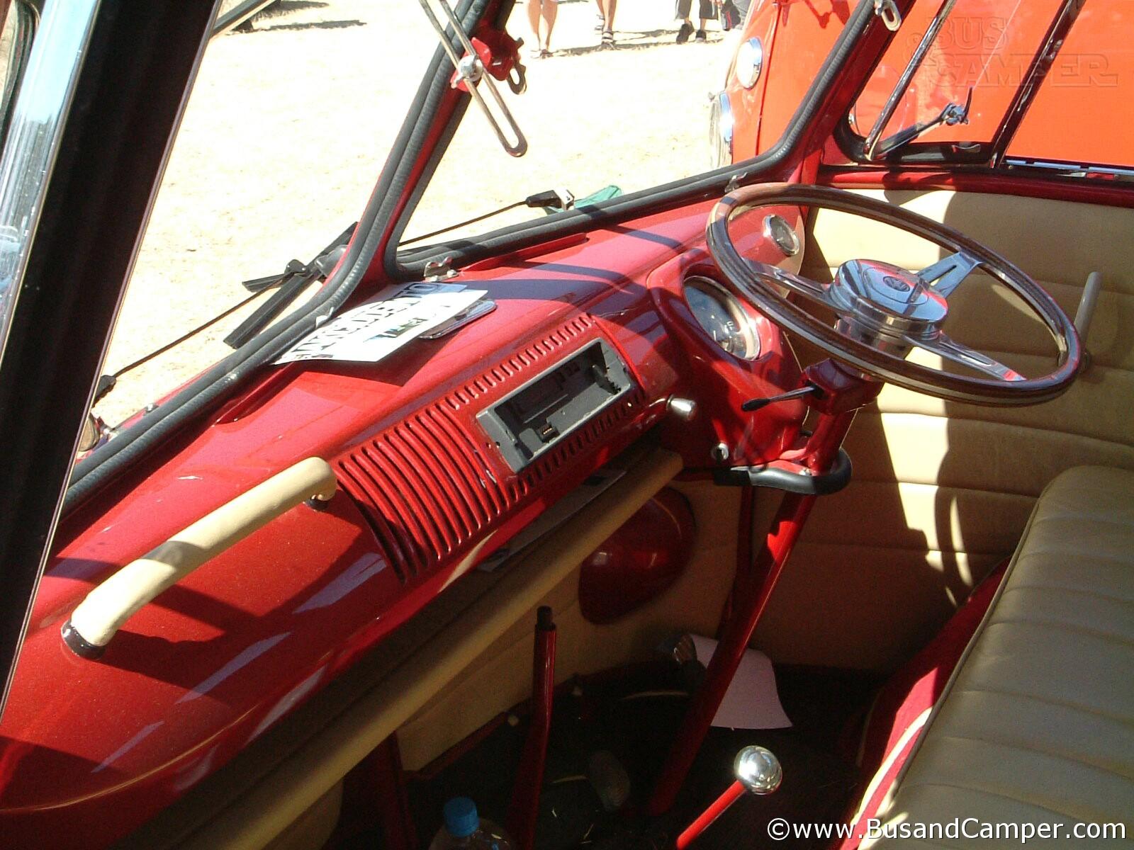 red custom van