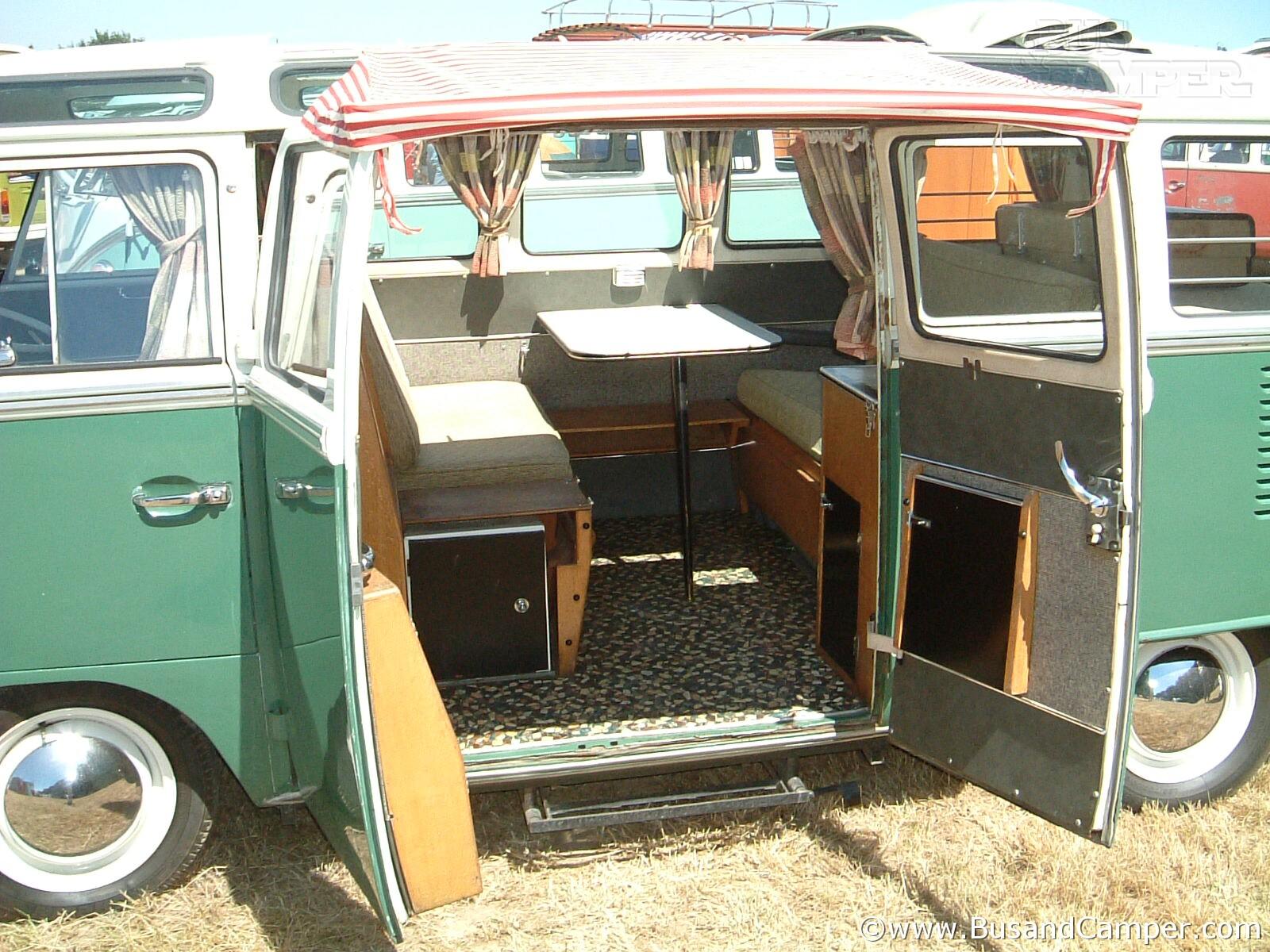 RHD Devon camper interior