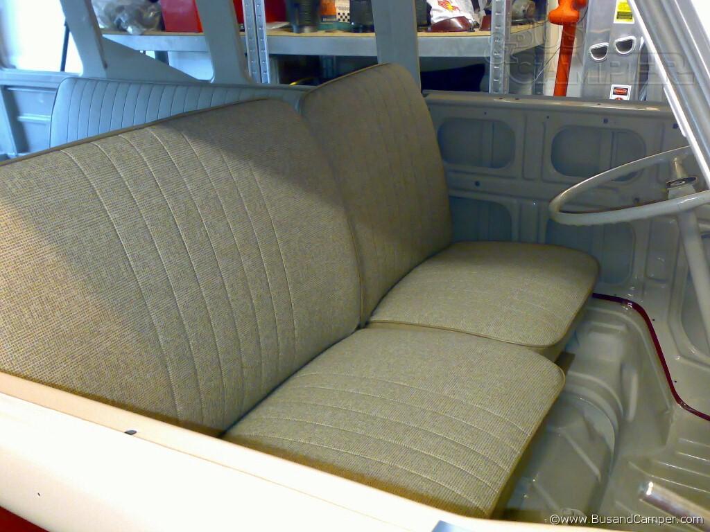 retrimmed front seats