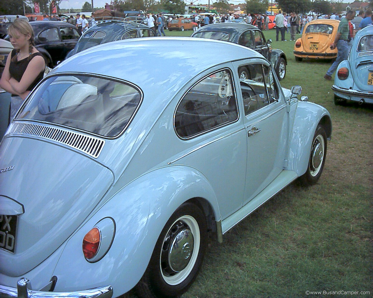 coloured running boards on a beetle