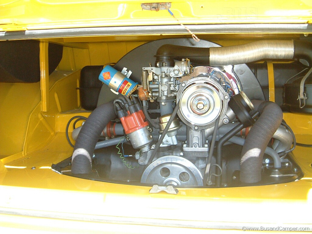 yellow bus engine