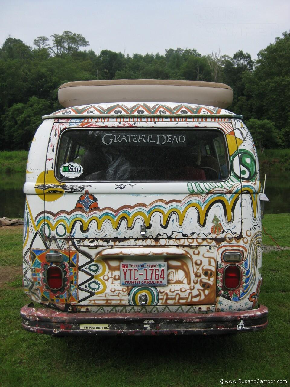Grateful dead hand painted bus 1