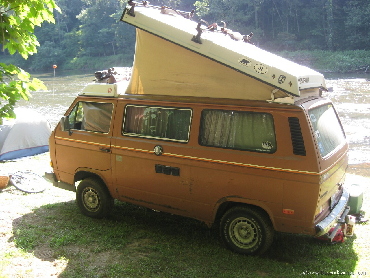 Loaded and well used camper