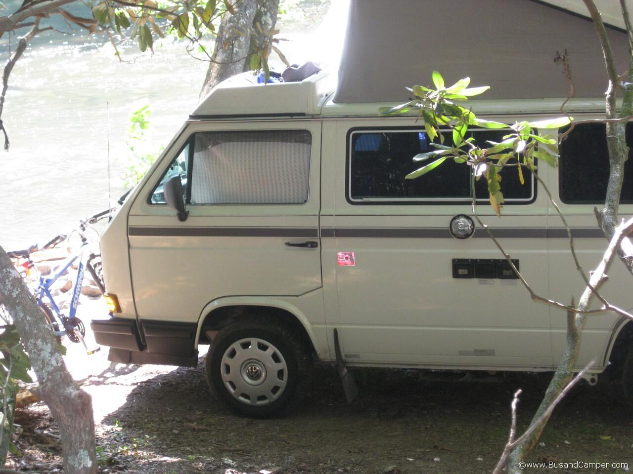 White original Westy Volkswagen