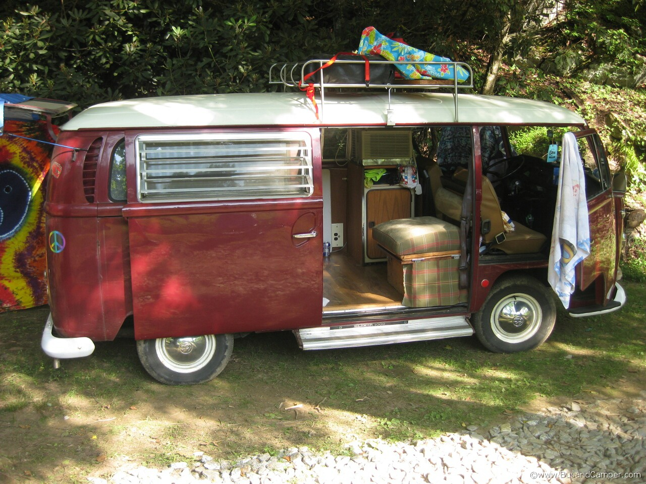 Tin top Chianti Red Westy and roof rack