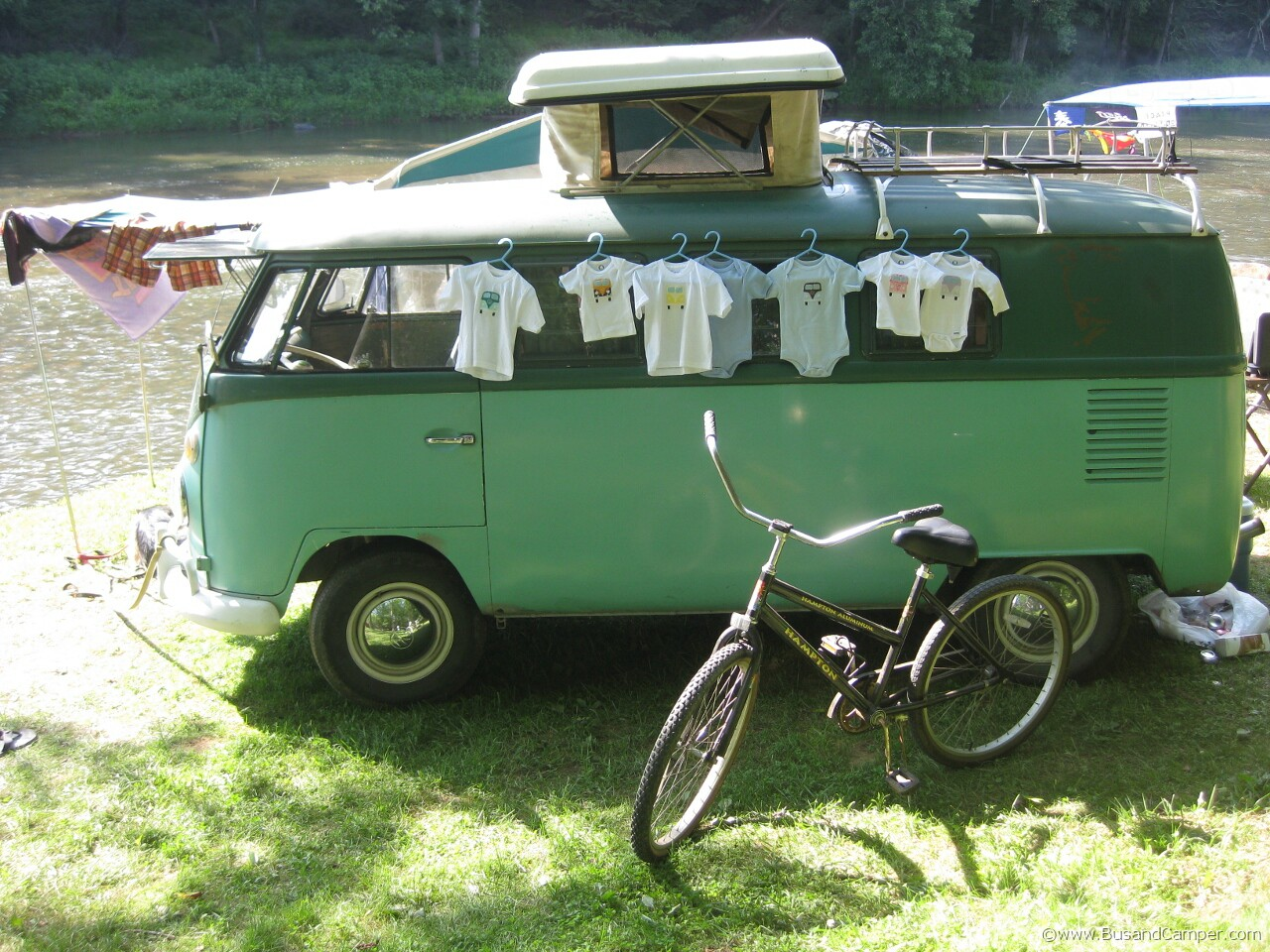 Two tone green Westy so42